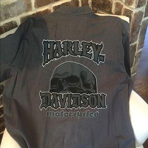 Men's Harley Davidson Button up shirt